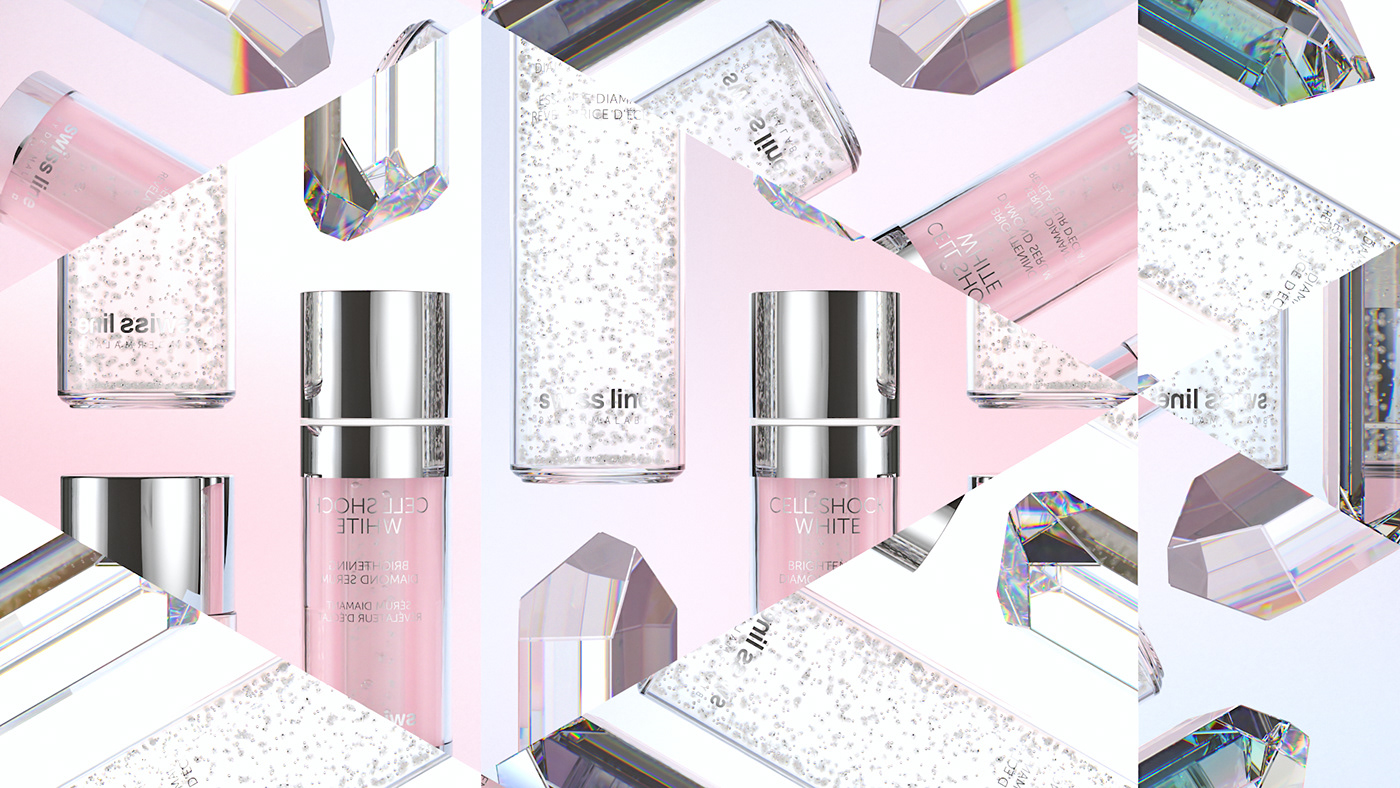 art direction  cinema4d cosmetics diamond  obsedant swissline