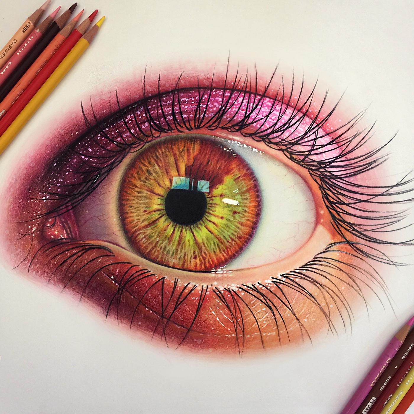 精細的24款手繪眼睛欣賞