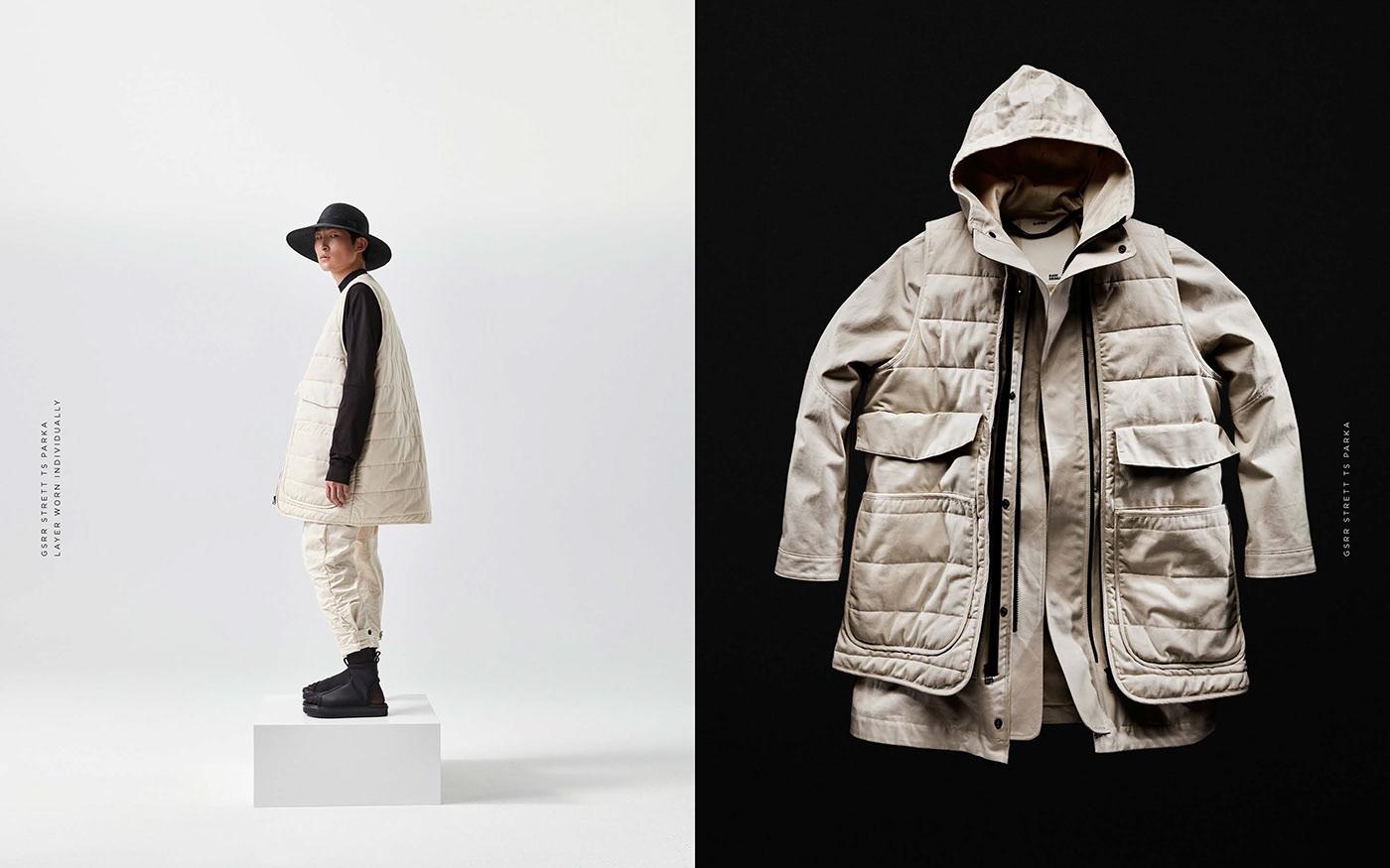 Image may contain: clothing, jacket and coat