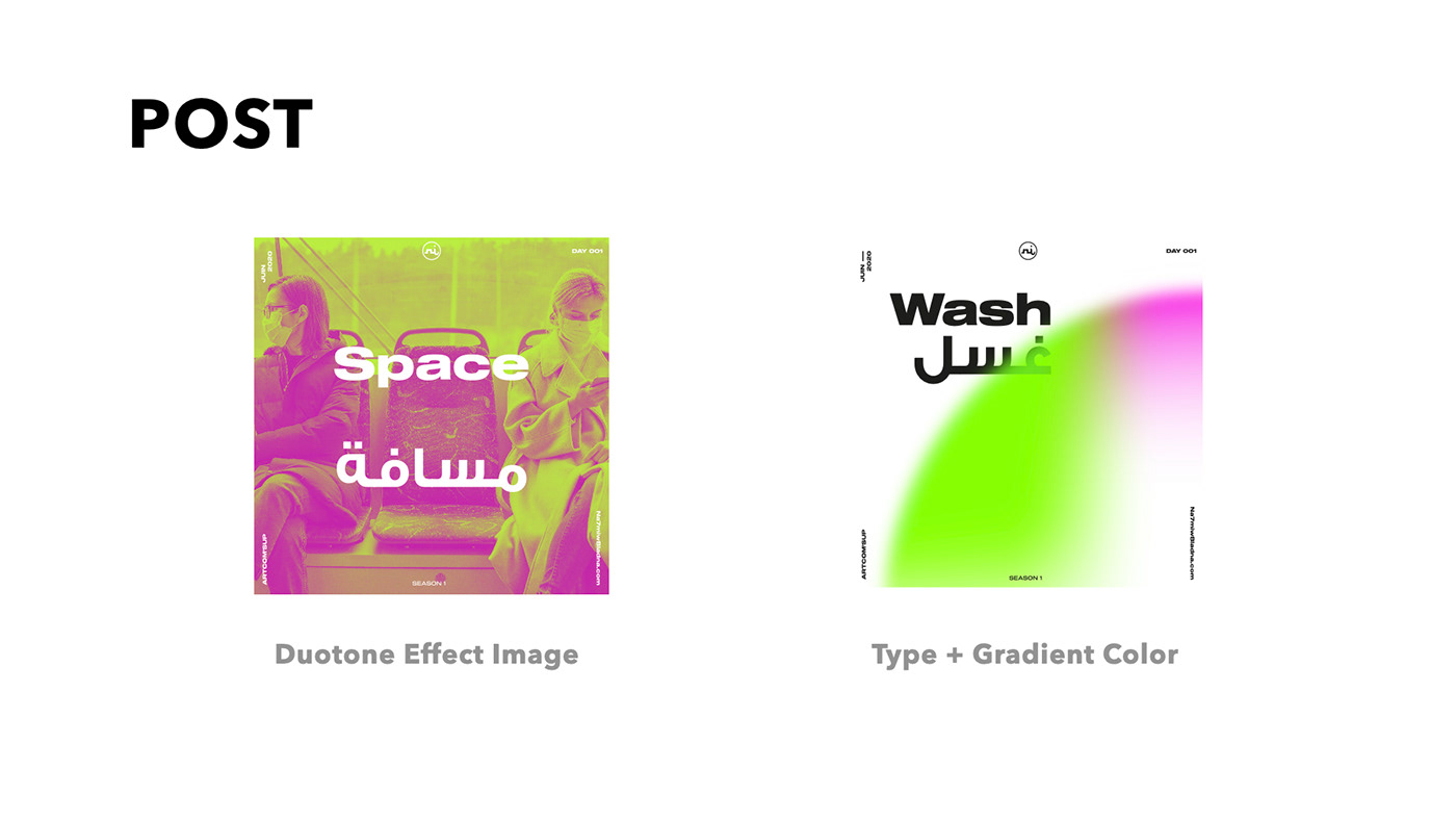 animation  Awareness campaign Diotone gradient poster typography