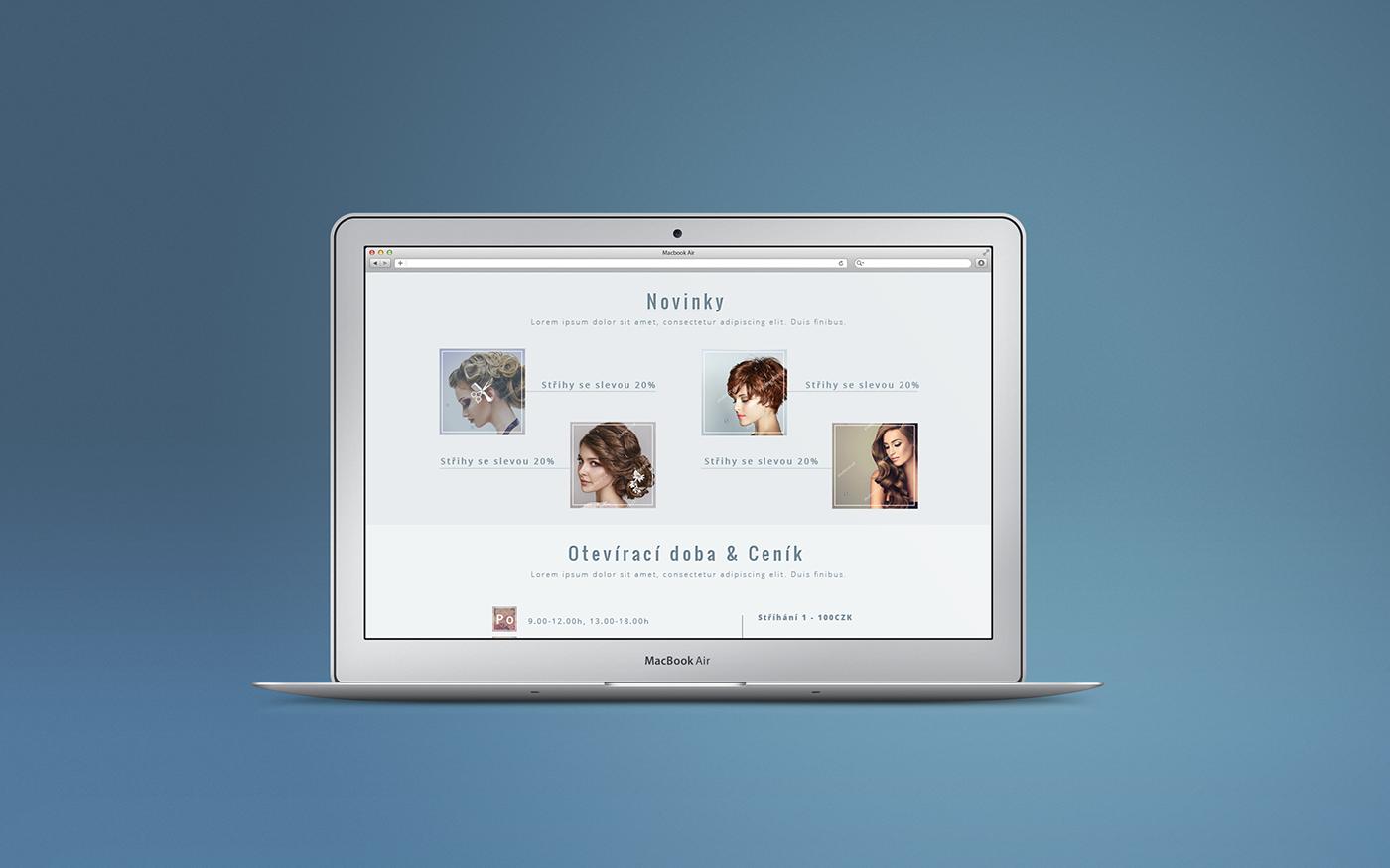 hairsalon Website design homepage