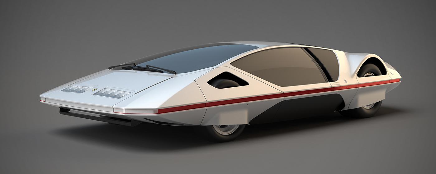 Alias automotive   Class-A FERRARI modulo pininfarina Paulo Martin 3D