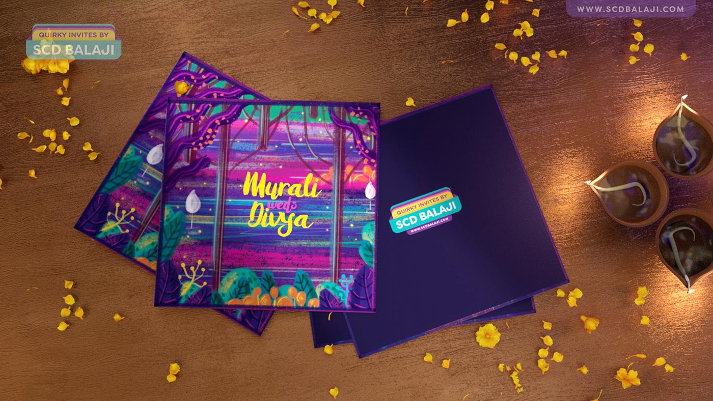 Radha Krishna - Indian Wedding Pop-up Invitation Card on Behance
