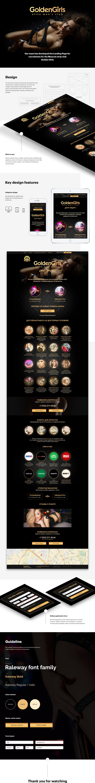 Web landing page site development Web Design  UI/UX strip club strip