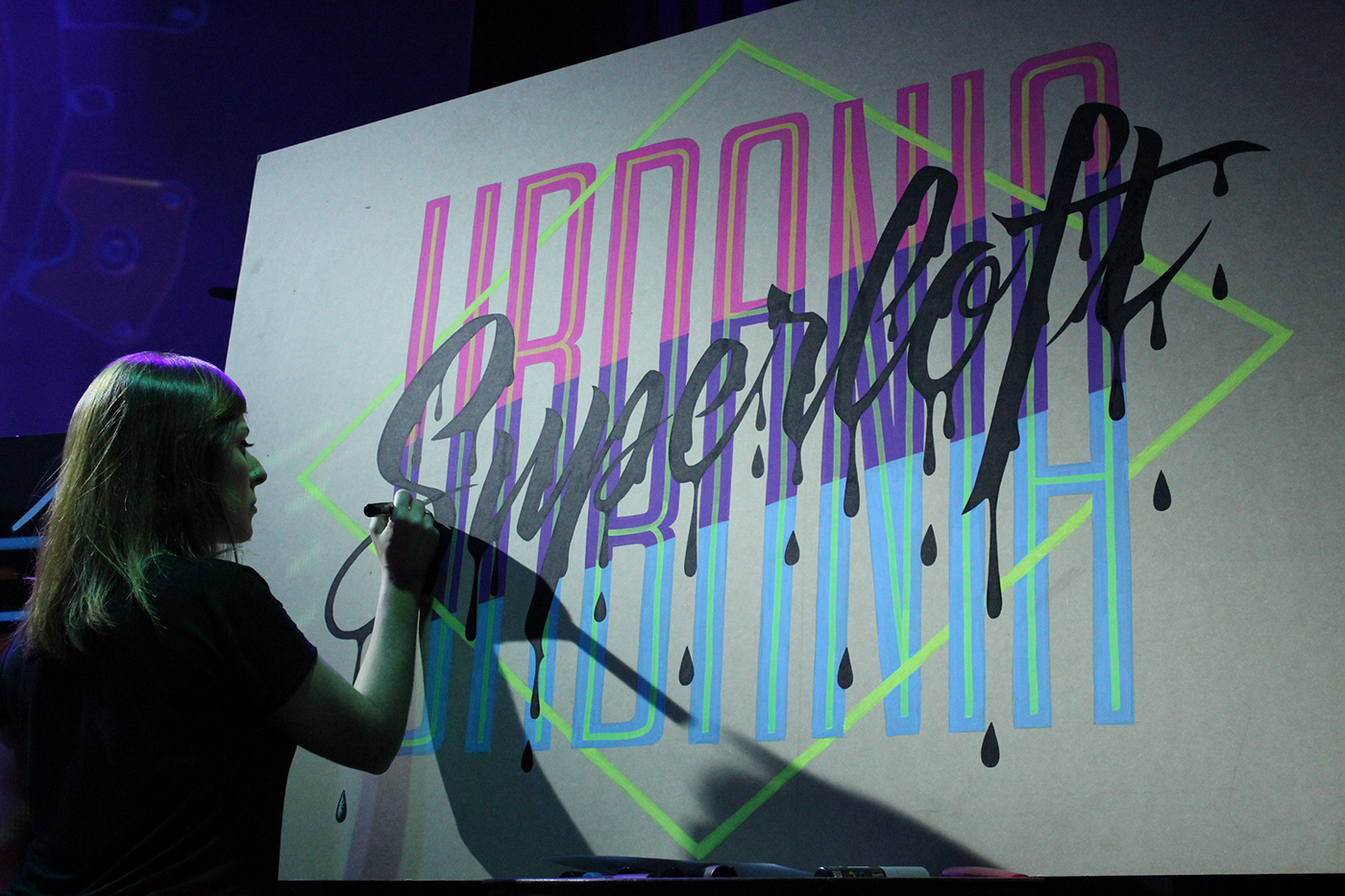 lettering Calligraphy   letters type live painting art caligrafia tipografia Posca design