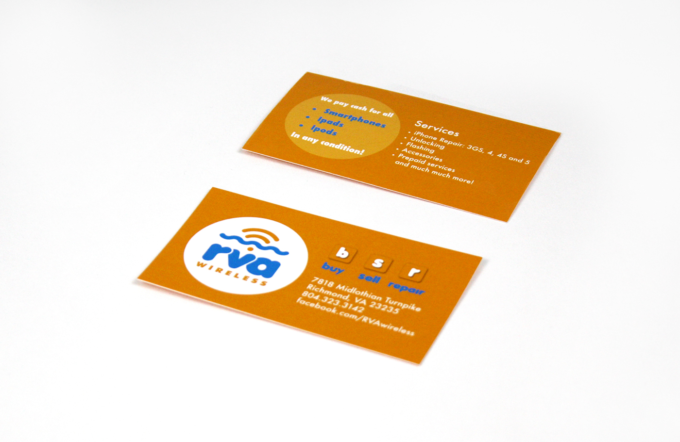 Rva wireless business cards on behance for Business cards richmond va