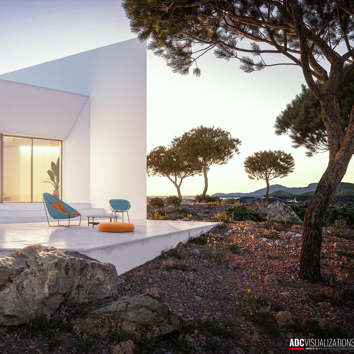 3D 3dsmax architecture archviz CGI exterior house Render Villa