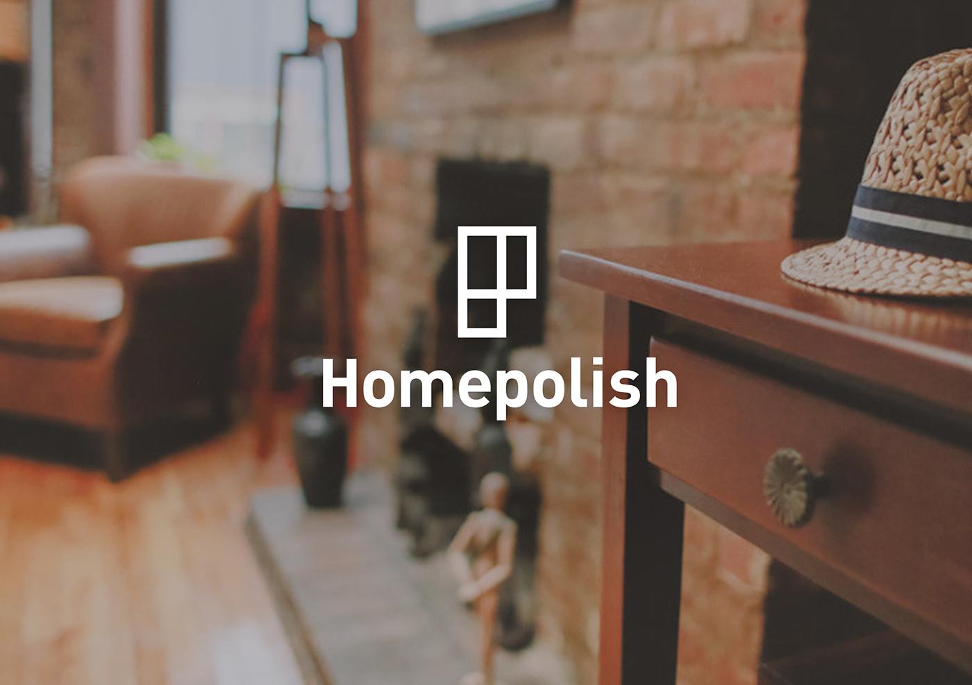 Homepolish Visual Identity On Behance