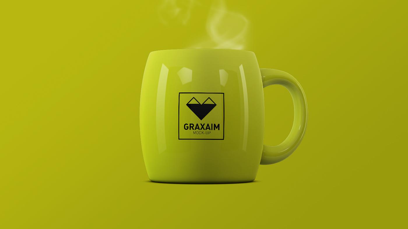 Mug  cup xícara caneca Mockup mock-up mock up template logo identity visual identity free mockup  free