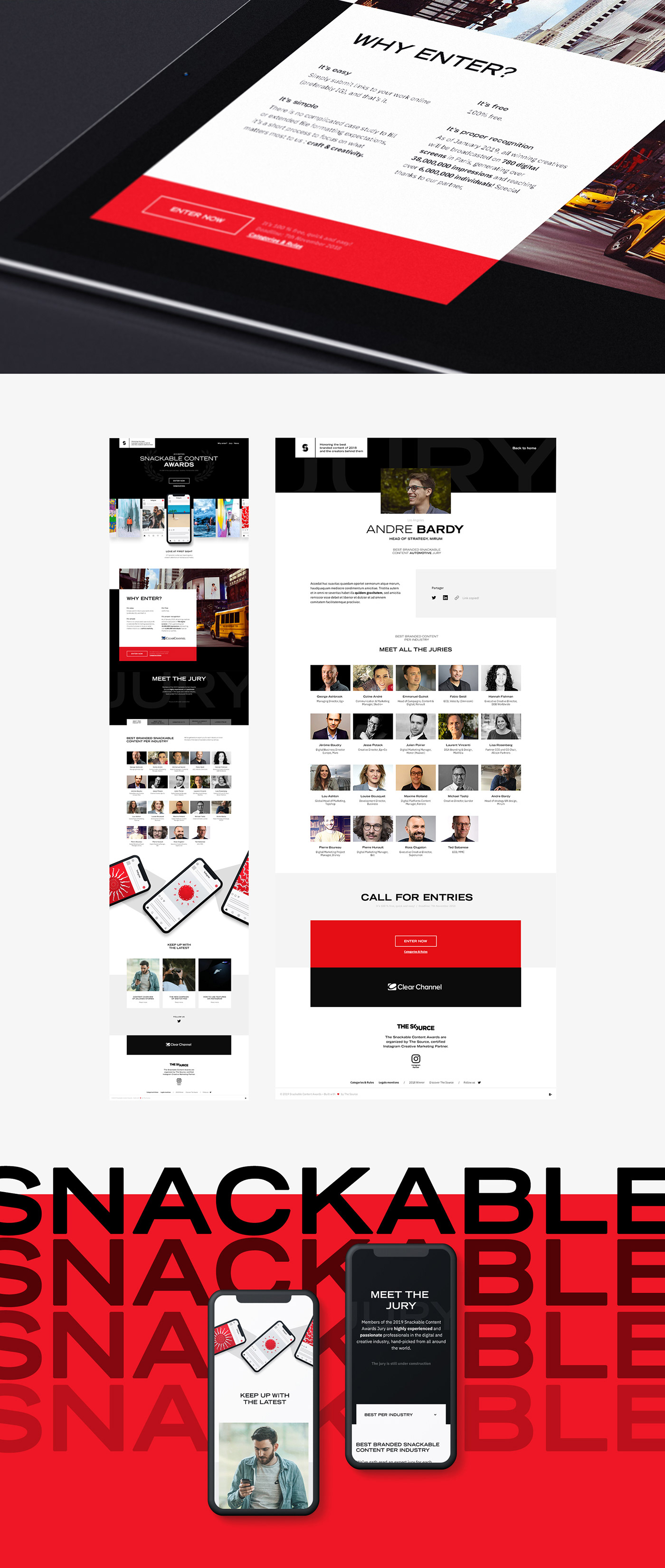 content social Website motion design animation  interaction video one-page