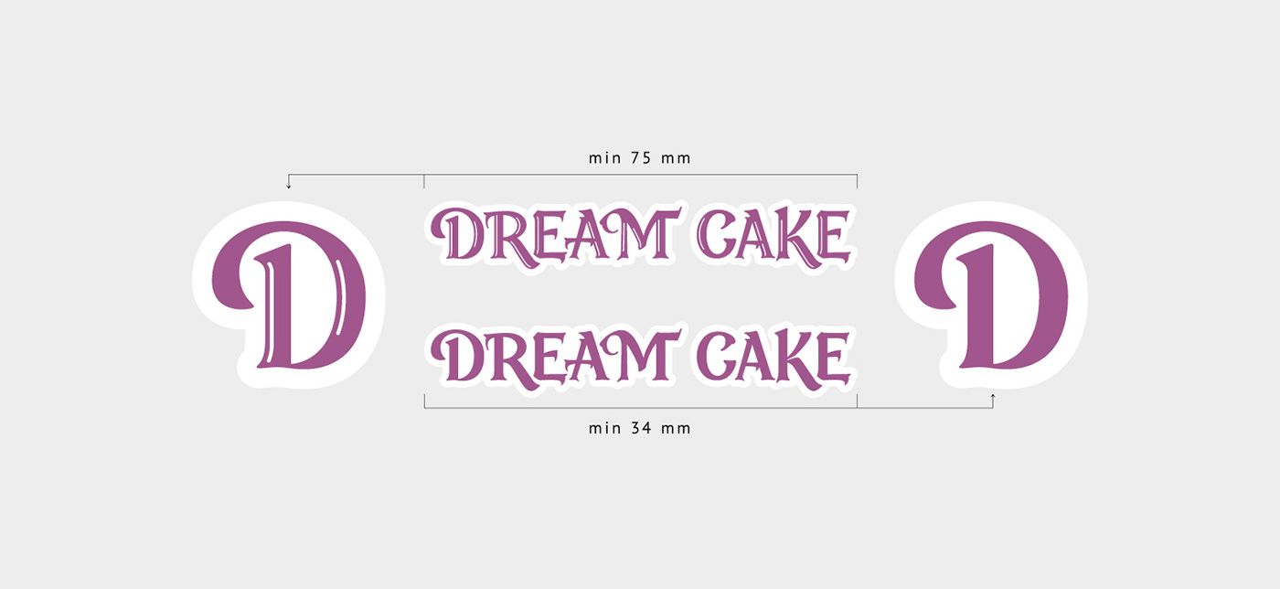 logo dream cake lettering Confectionery sweet-stuff  DZ roman Vip luxery