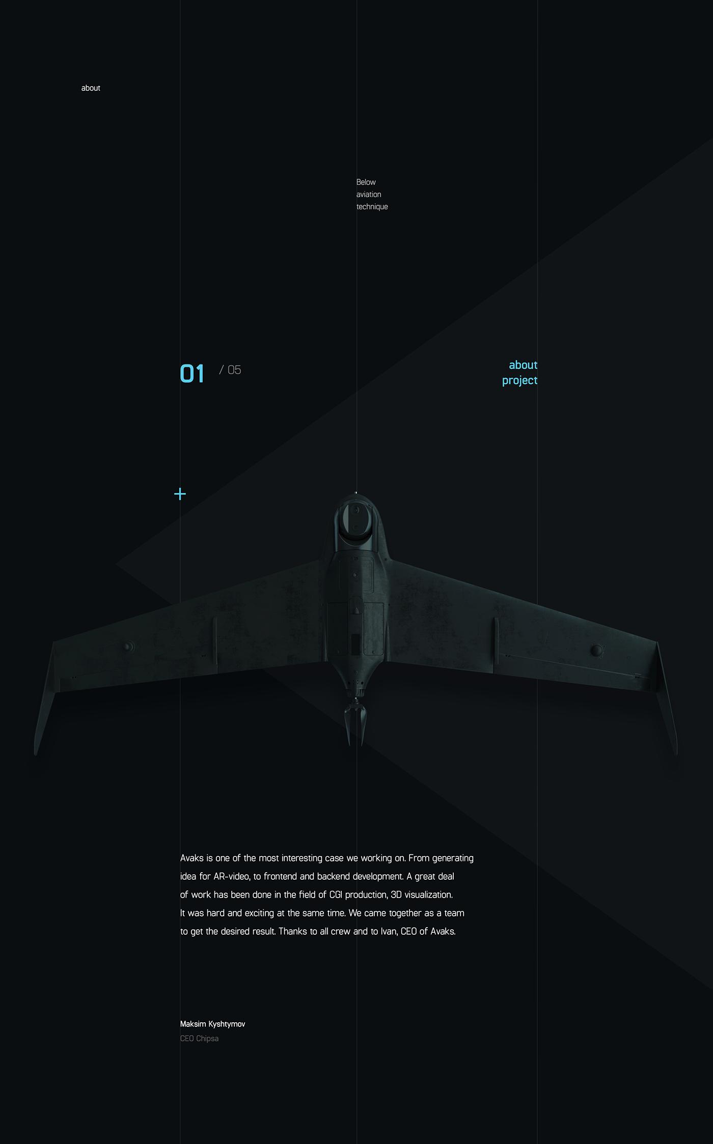 site fullscreen video 3D CGI logo UI ux clean promo