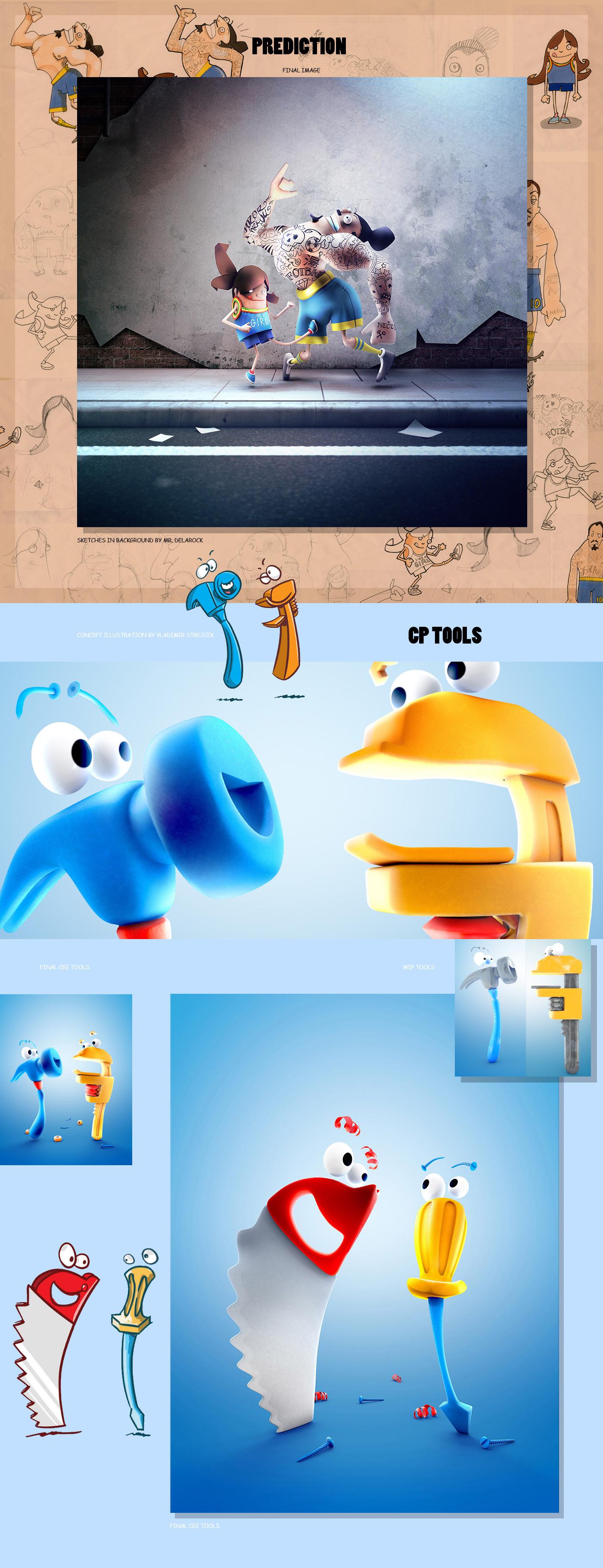 cartoon color toys robots Cartooning  Food  tools skate sketch snowman