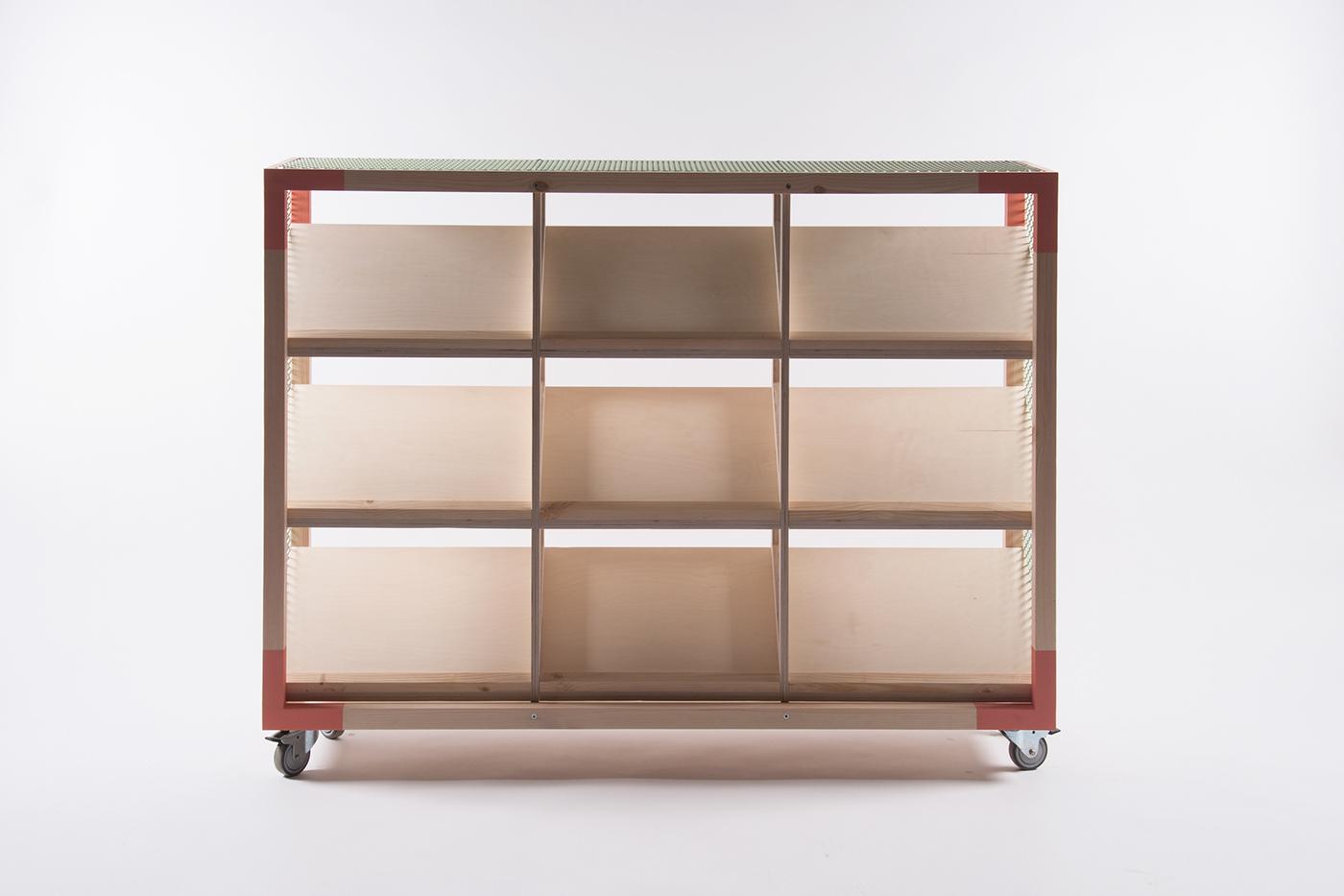 Kixbox shelving on behance for Mobilier design