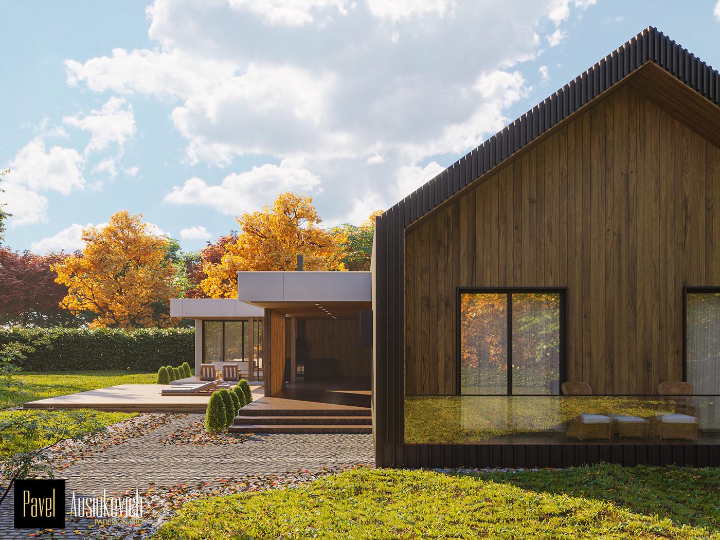 architecrure design Project cg artist exterior Landscape Design Residential house HOUSE DESIGN