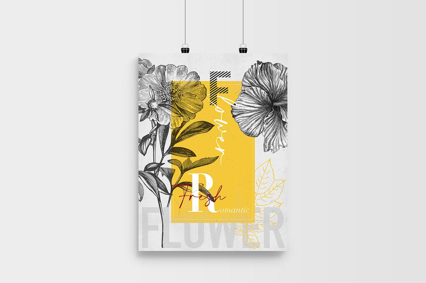 Fleurs flower poster