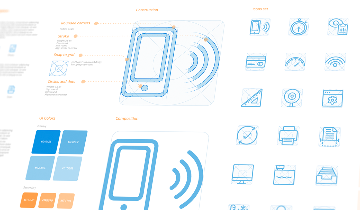 Pictogram glyph icon design  iconography guidelines icons system brand identity visual guides brandbook components digital apps UX UI Style Guide