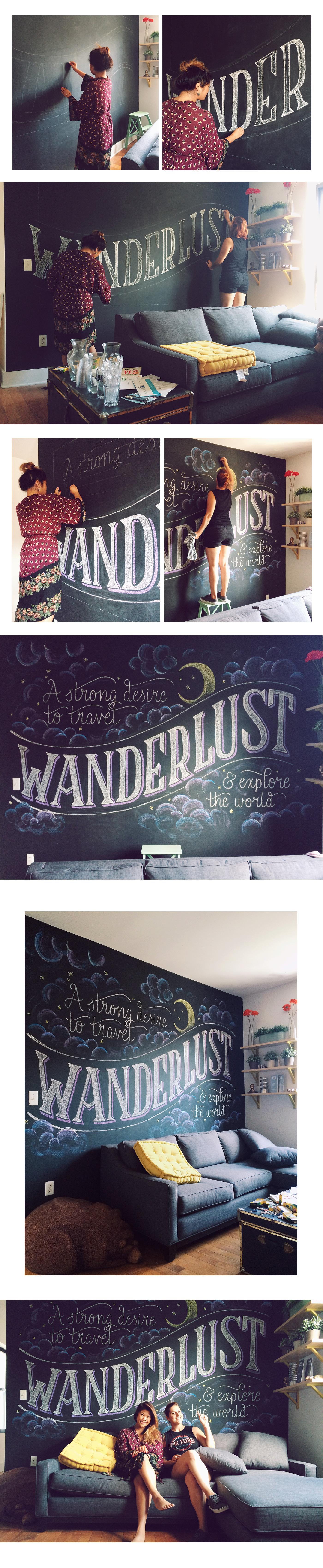 chalk lettering wanderlust Travel explore world