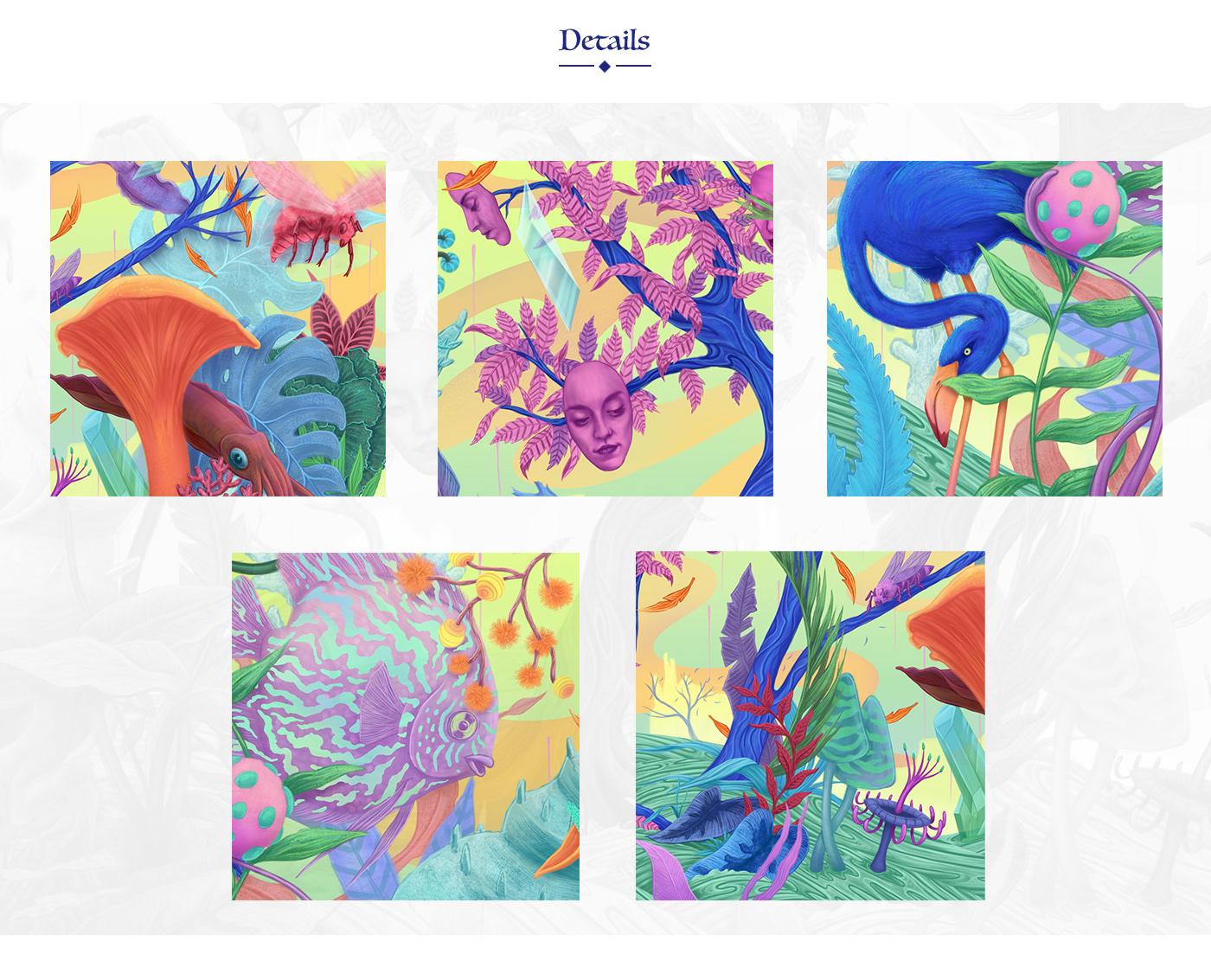 art colors digital illustration digitalpainting Drawing  fantasy Nature Packaging painting   surrealism