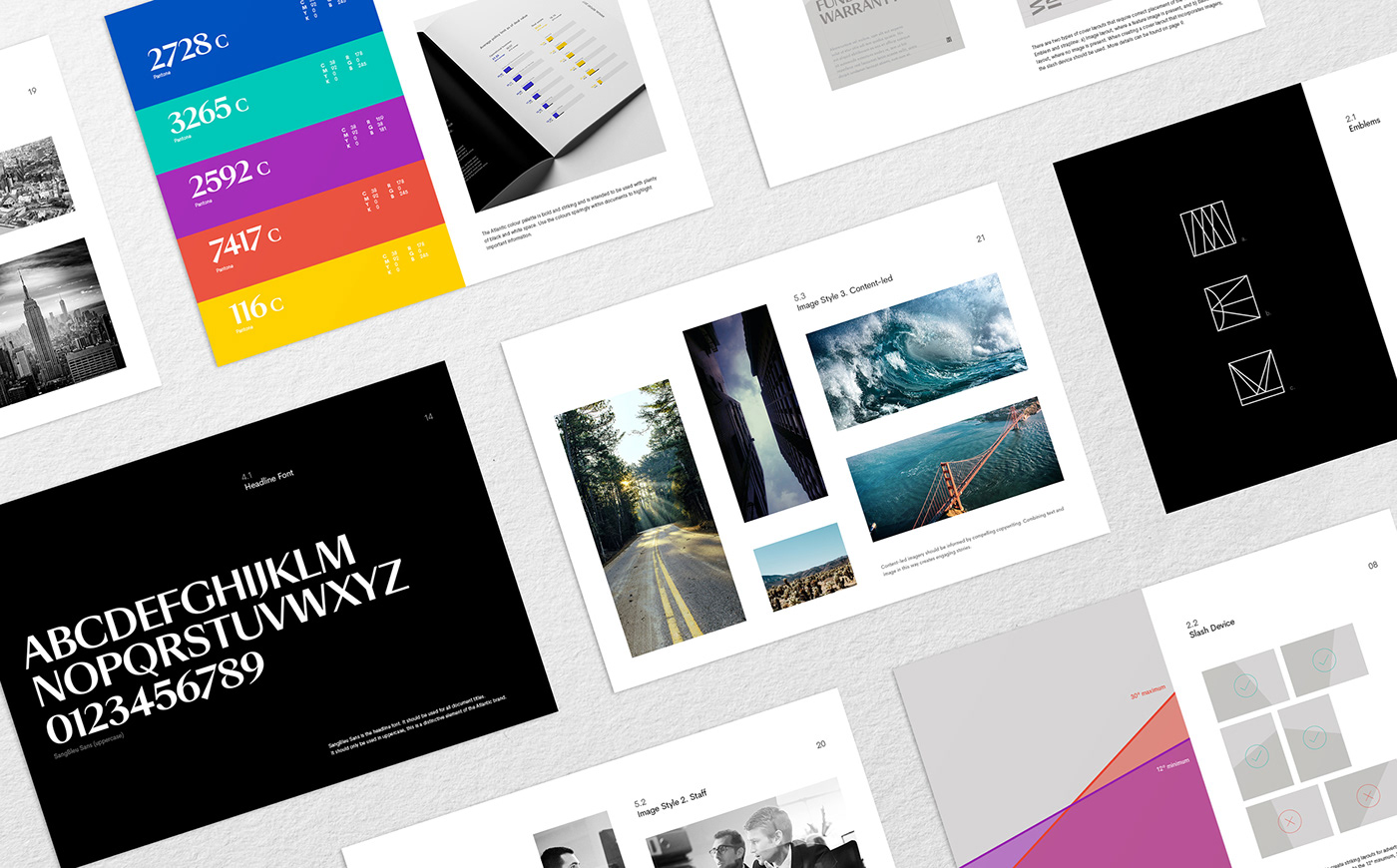 branding  design logo icons layered print guidelines serif Stationery