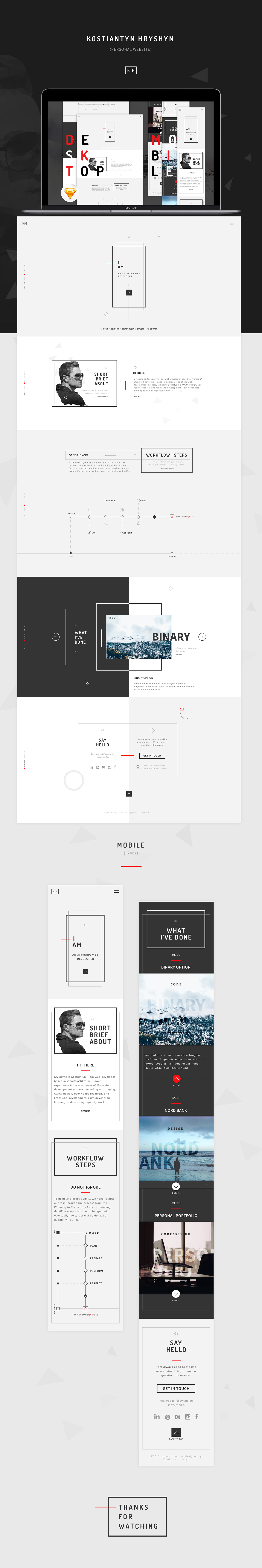 Personal website - Free template (Sketch) on Behance