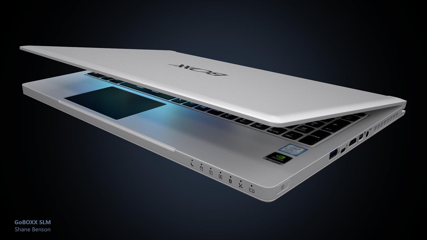 notebook Laptop boxx c4d cinema 4d product design  3D