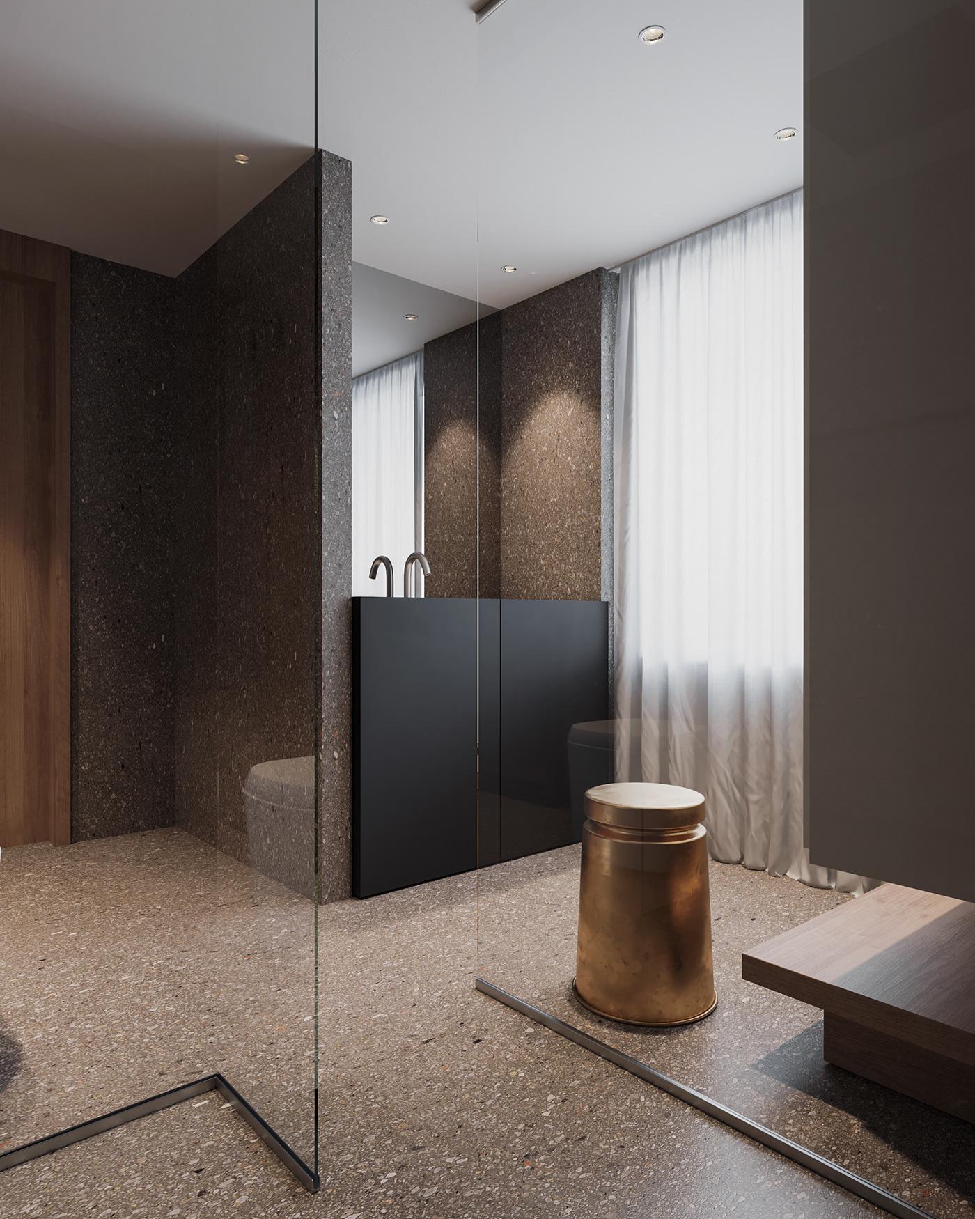 architecture archviz CGI corona renderer interior desig Minimalism Modern Design Render visualization