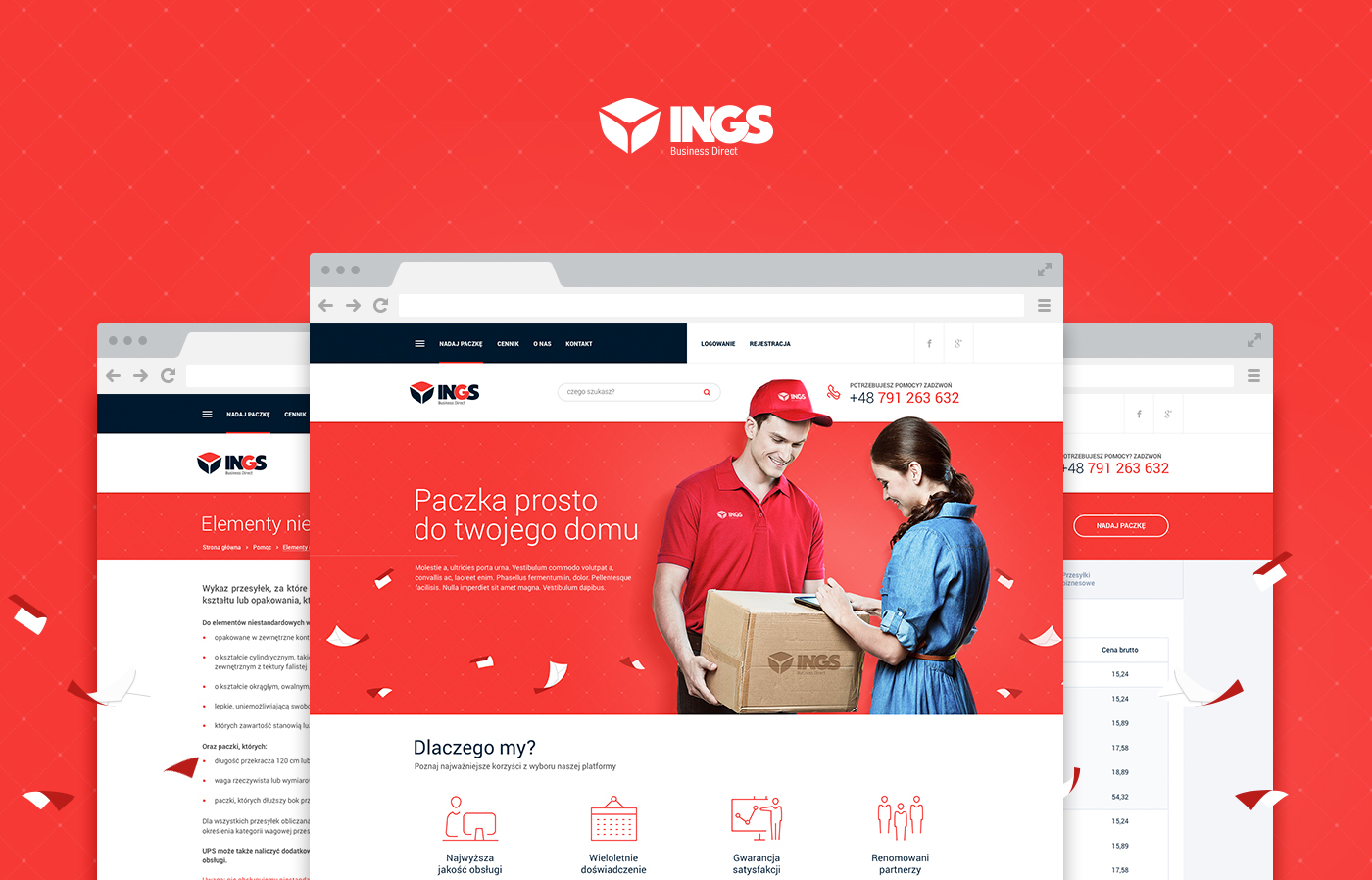 Website Webdesign courier logistic Transport delivery post box package cichonkarol