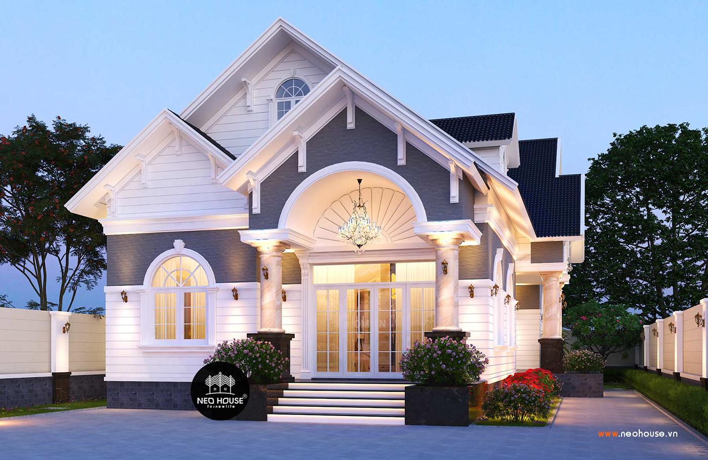 Mẫu thiết kế biệt thự vườn đẹp 1 tầng hiện đại 180m2 7e82eb83046205.5d301ed5888ba