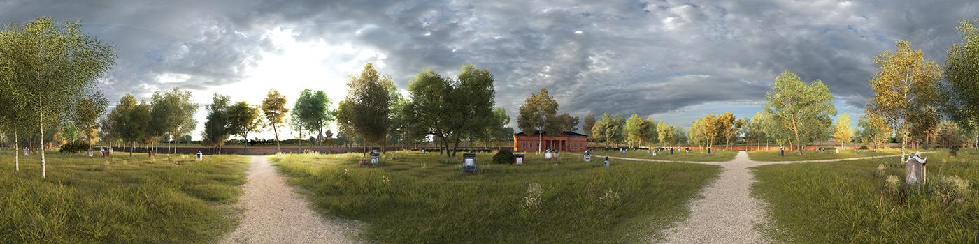 3D CGI Landscape visualisation Nature plants threes archviz 3dsmax vray
