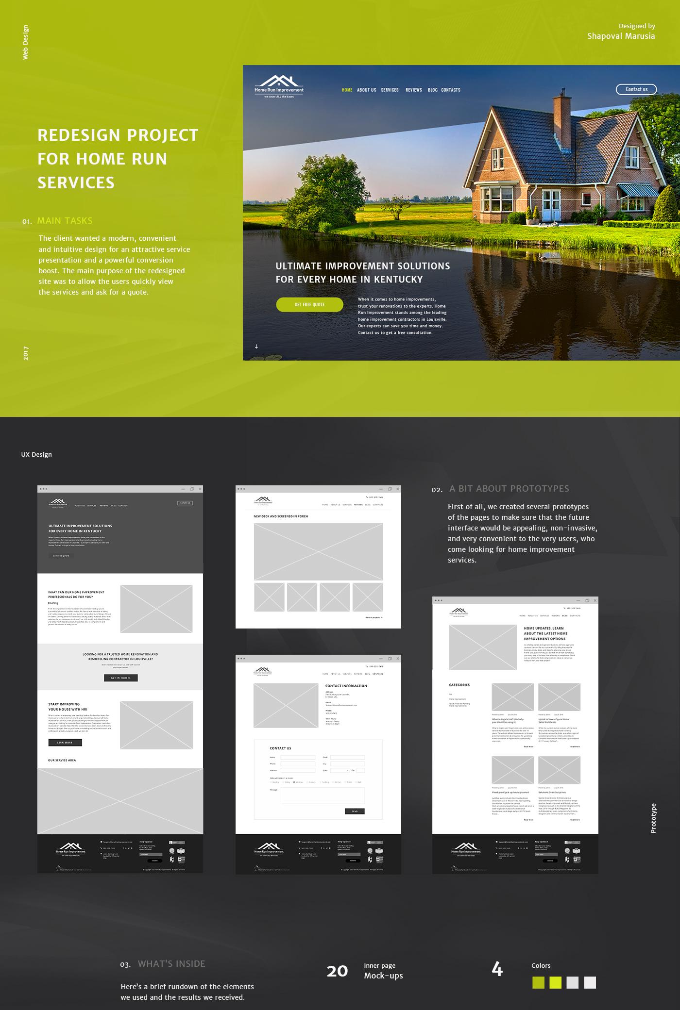 ux UI Web Design  development house landing building user friendly home