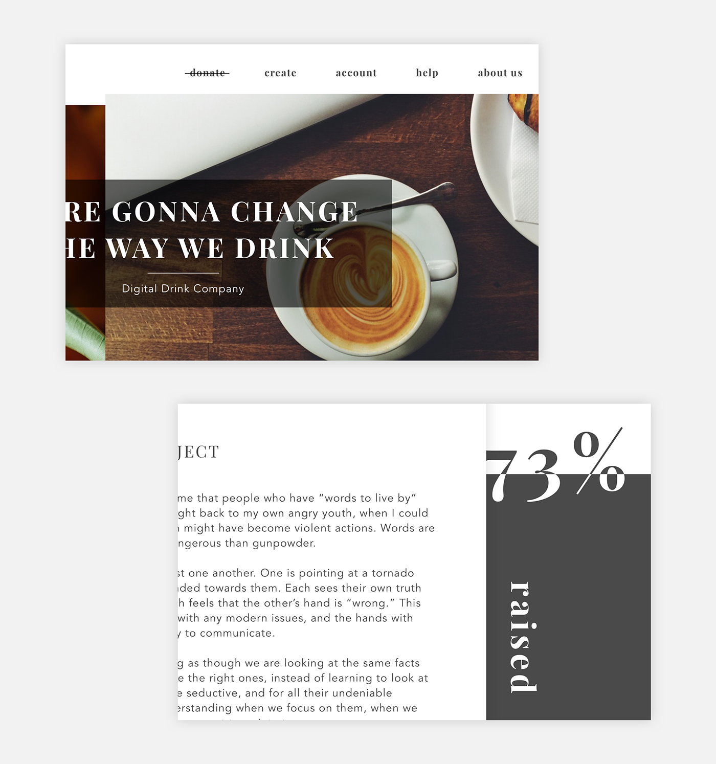 crowdfunding campaign daily ui design UI Interface ux user Webdesign