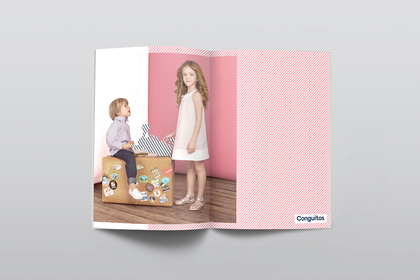 design graphic Lookbook spring Conguitos photo kid Clothing shoes Catalogue