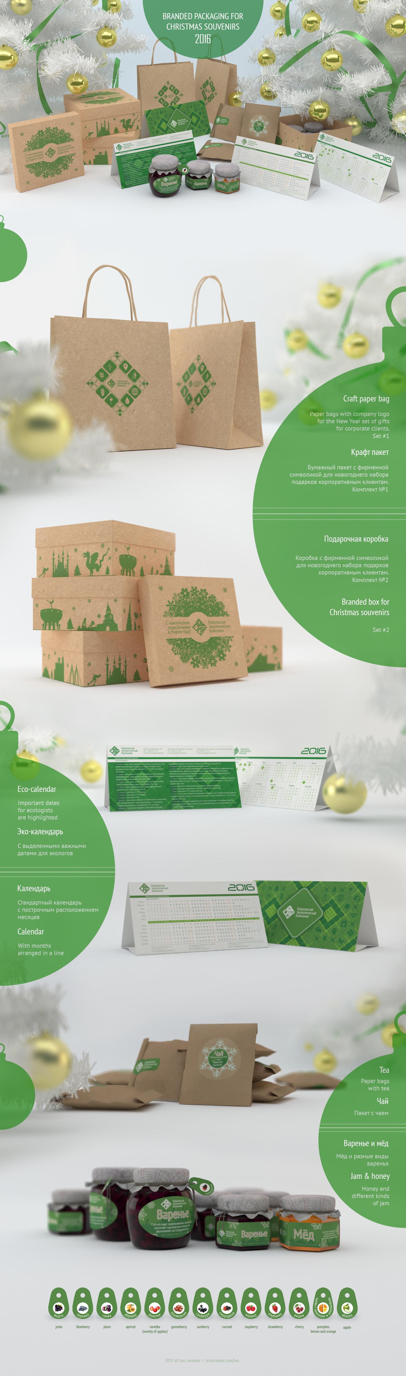 Оформление наборов новогодних сувениров для корпоративных клиентов