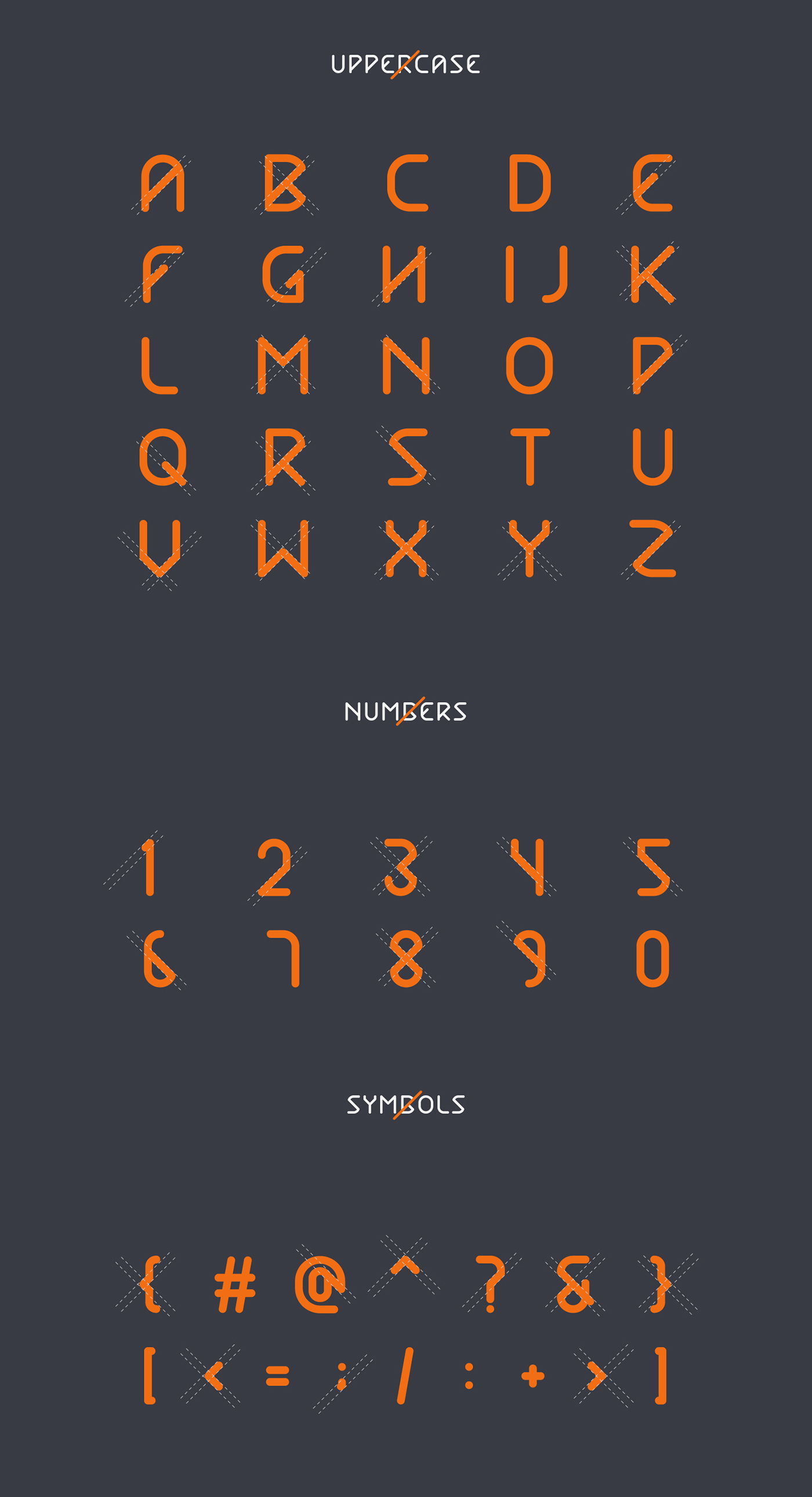 Title typo type Typeface Display font fontface minimal cross new freefont