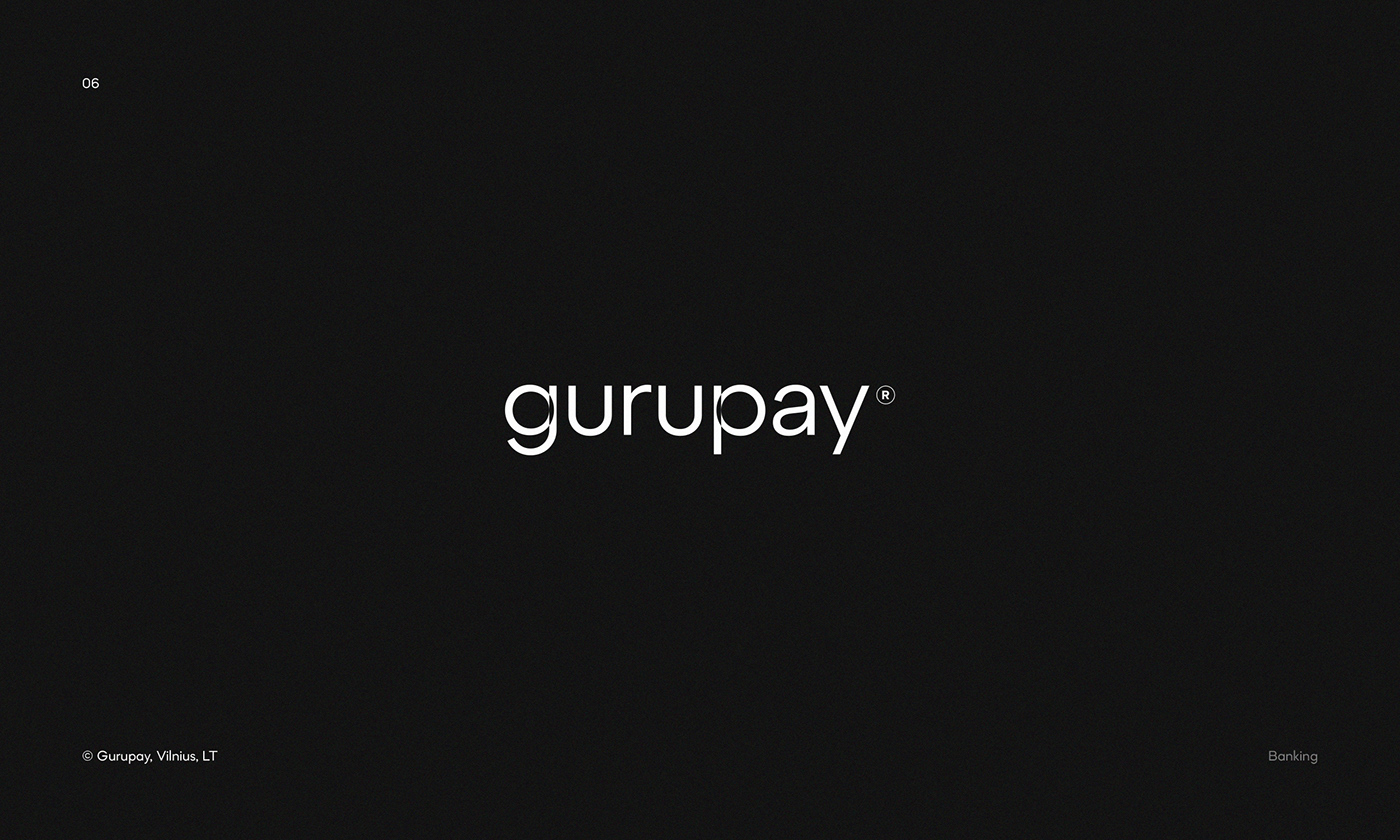 Logo for Gurupay — payment service from Vilnius, Lithuania.