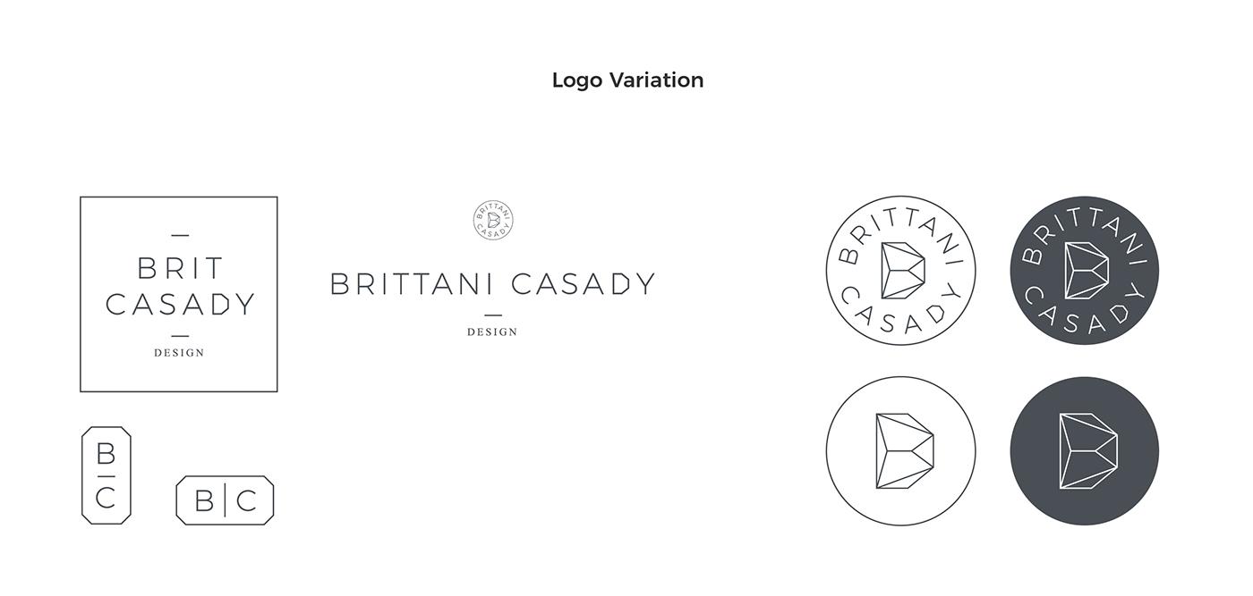 design brand logo identity Business Cards process minimalistic geometric Rose Gold Marble