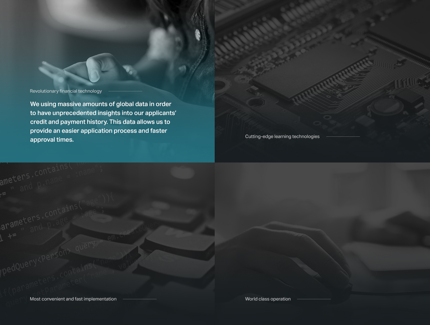 Bank dark Technology Isometric Onepager 3D simple corporate business services