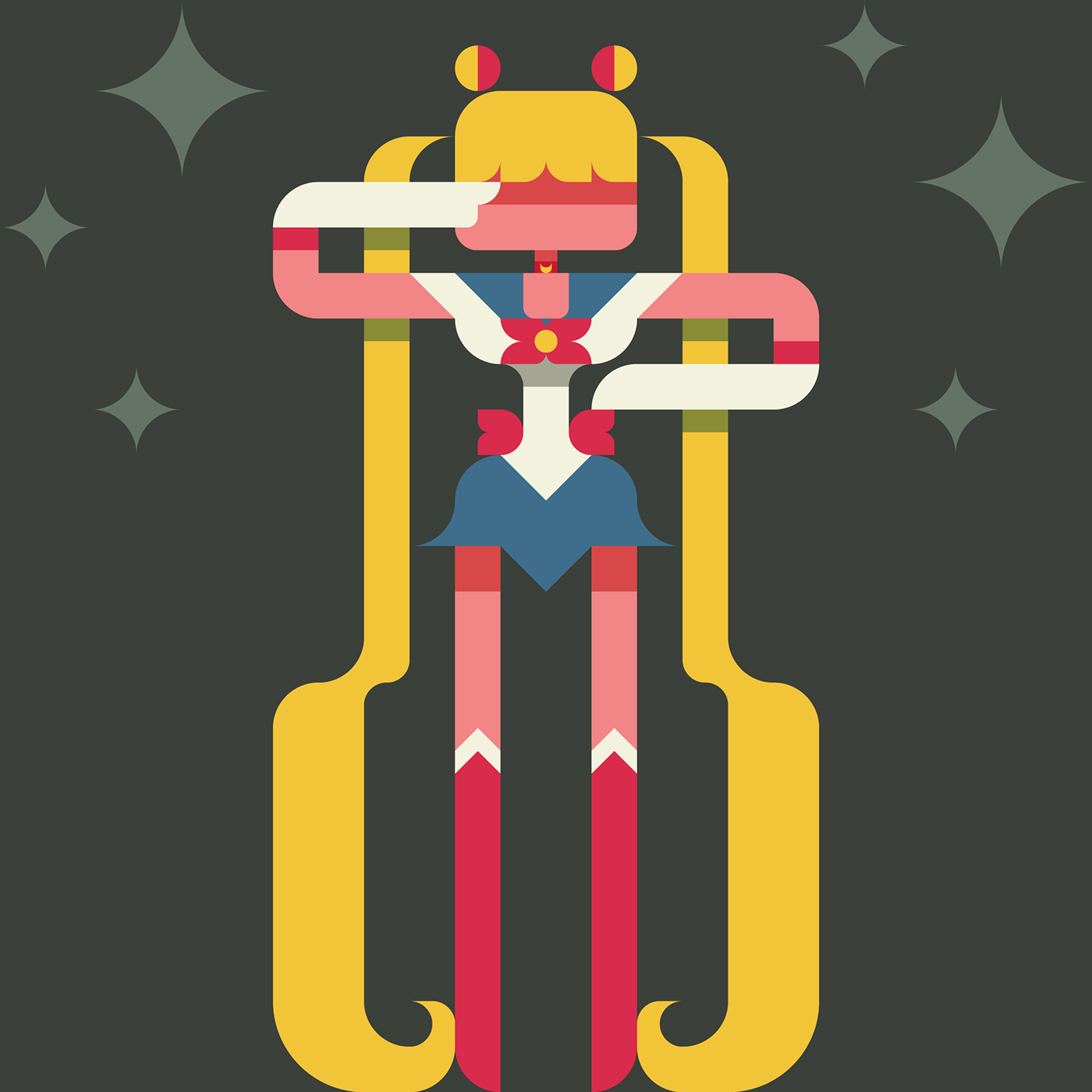 Character Design App Iphone : Sailor moon with a drawing app on behance