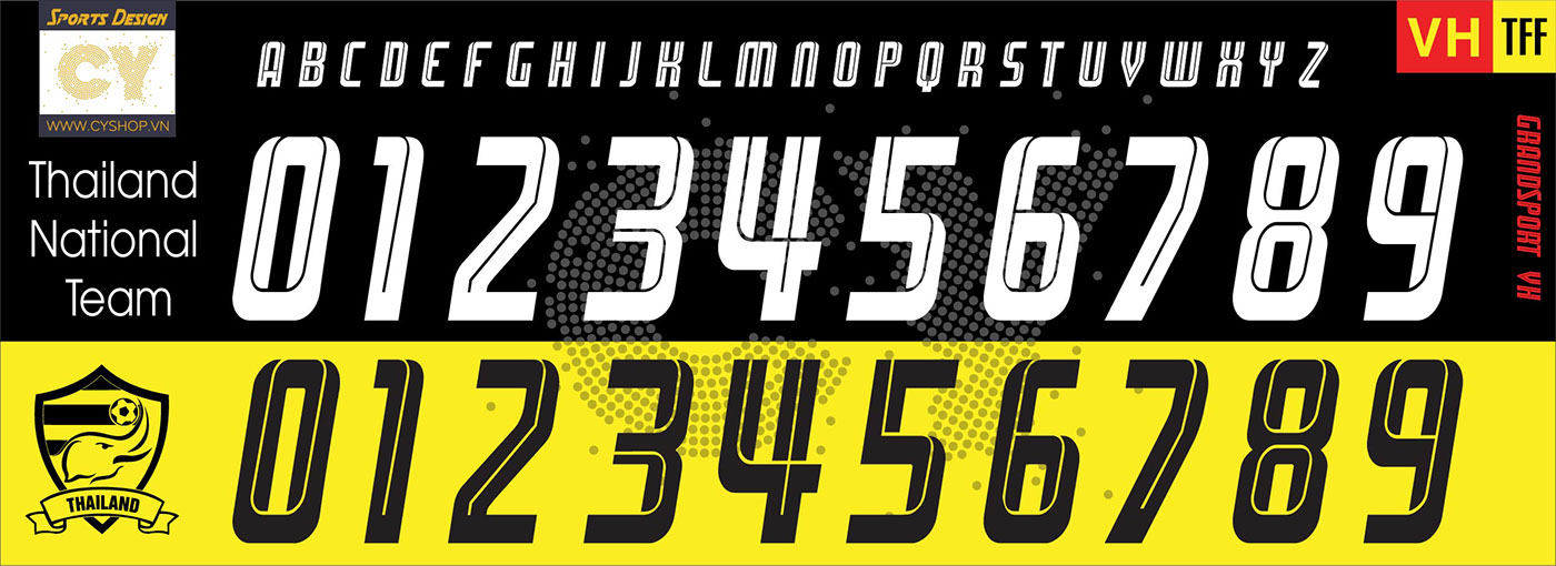 Font Number Football Jersey 2017 2018 On Behance
