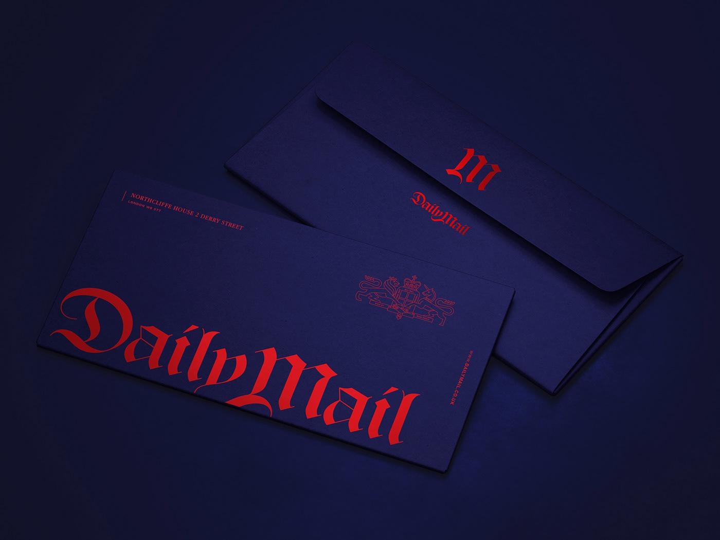 newspaper identity newspaper rebranding rebranding identity Logo redesign Newspaper Logo Design newspaper Daily Mail tabloid Logotype