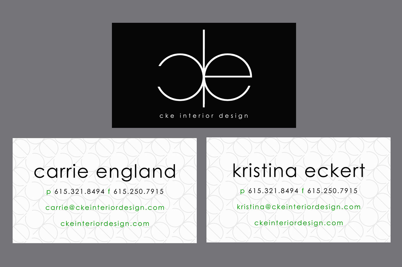 Cke interior design business cards on behance - Business name for interior design company ...