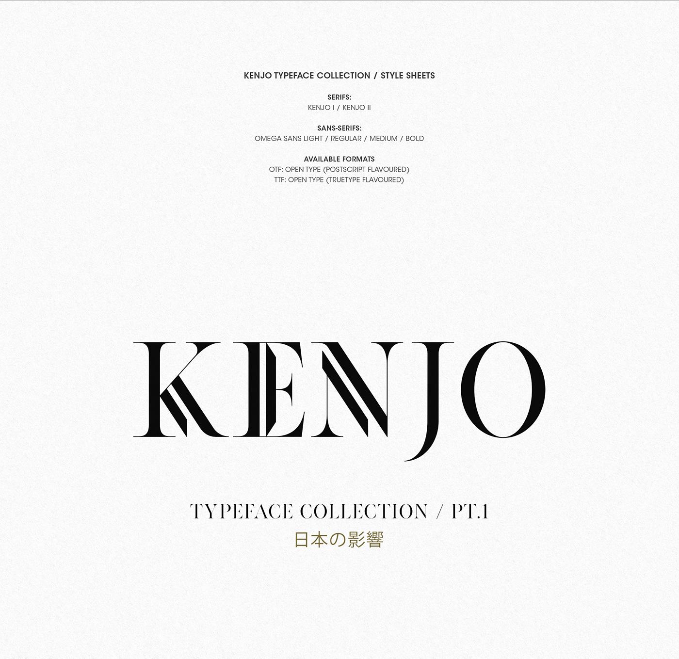 KENJO FONTS | PT  I on Behance