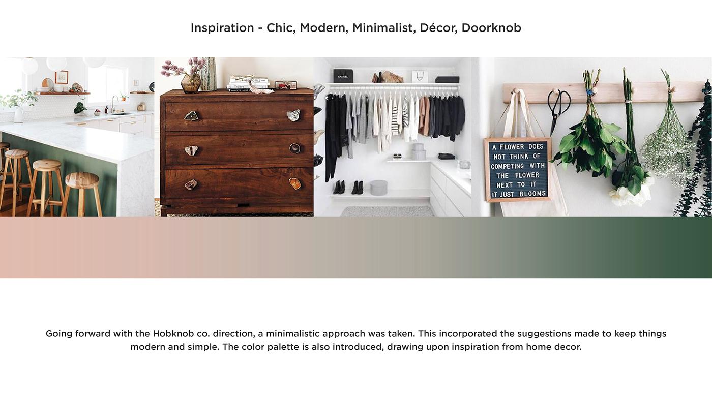 design logo brand identity minimalist modern decor doorknob Rose Gold