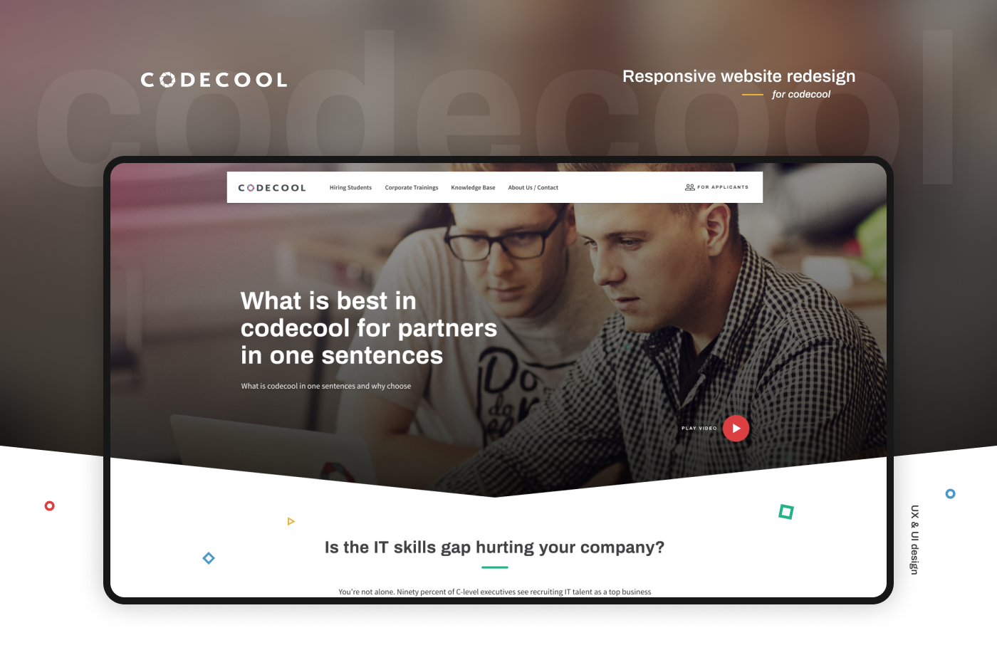 Responsive rwd Web Design  Webdesign Education course programming  school Web code