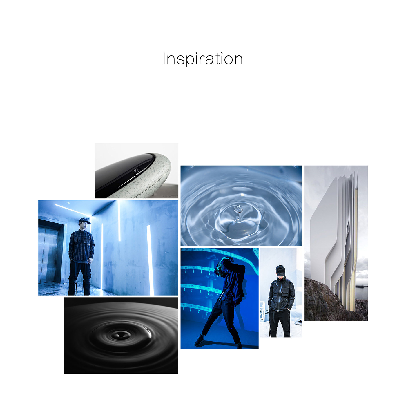 Urban function Fashion  design earphone sketch Cyberpunk city art concept