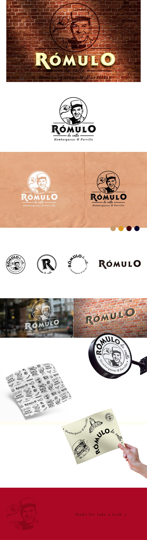 branding  burger graphic design  individual logo Logotipo parafinado restaurant