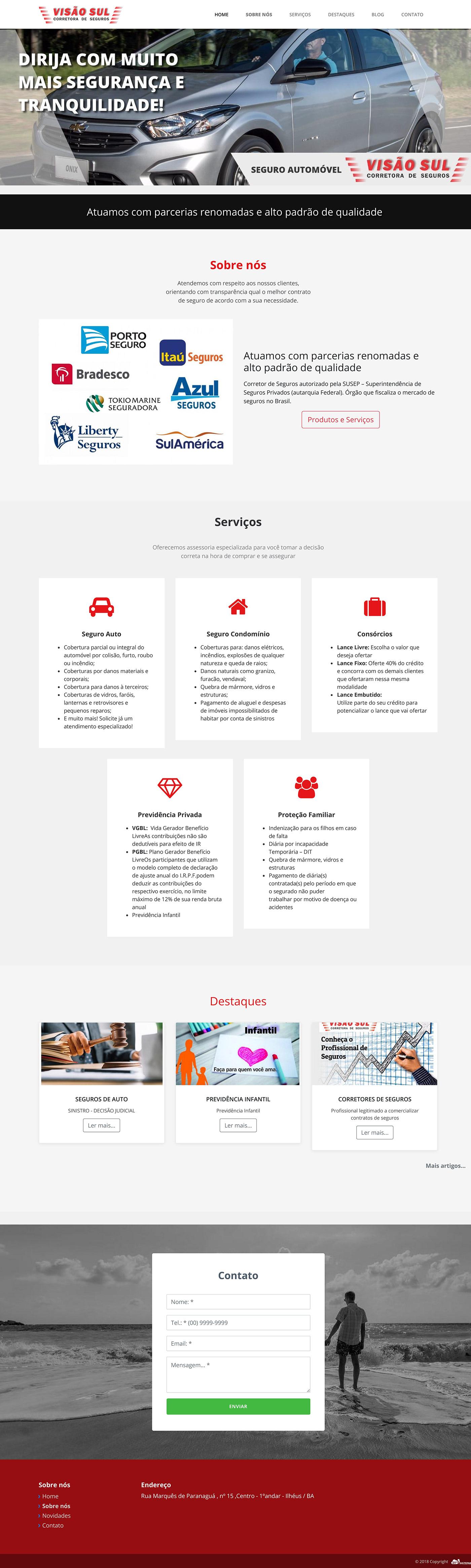 automoveis design seguradora web site