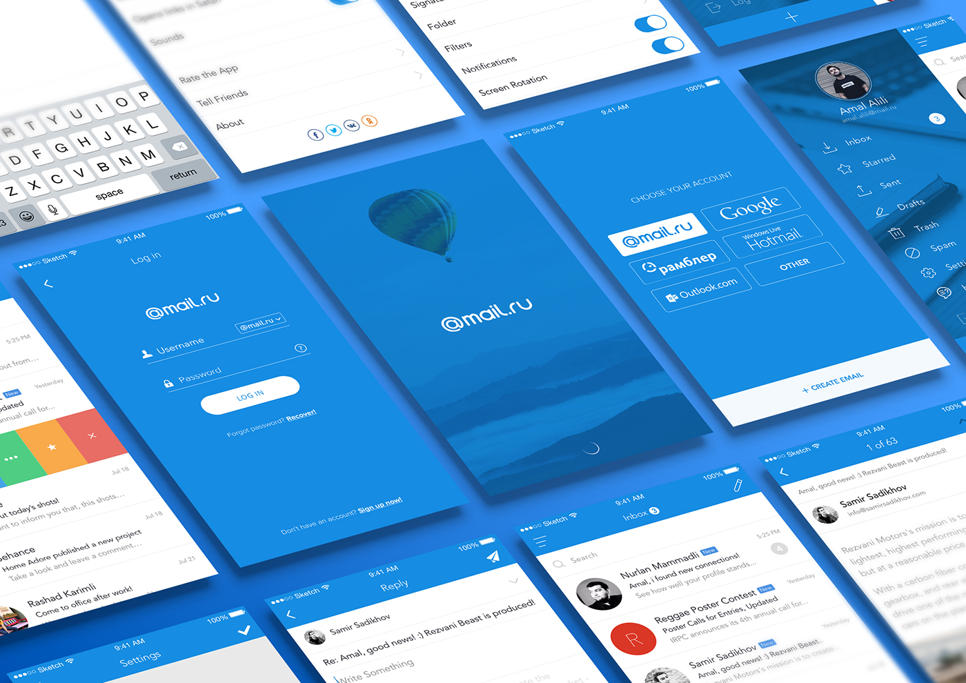 redesign app on behance