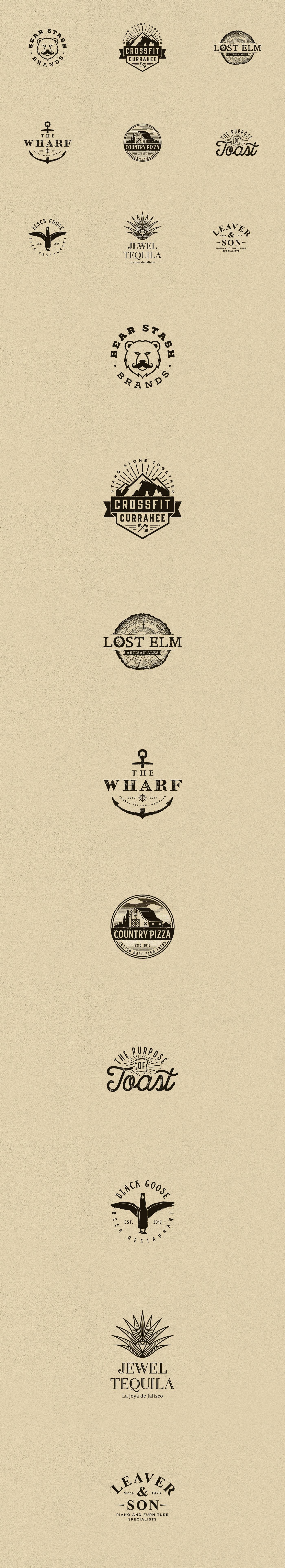 graphic design  vintage grunge Retro branding  brand identity Logo Design logomaker logovo logovodesign